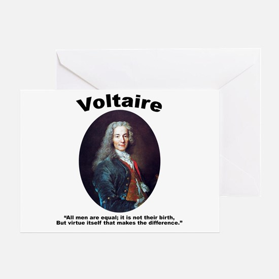 Voltaire Equal Greeting Card