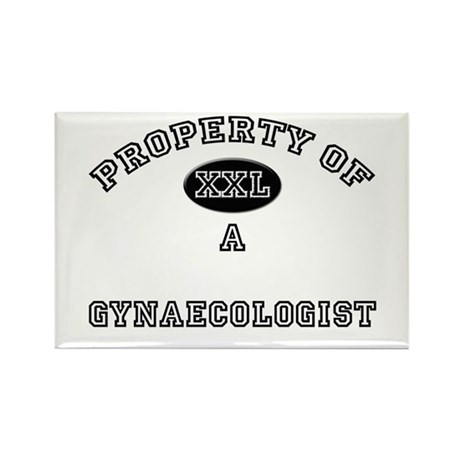Property of a Gynaecologist Rectangle Magnet
