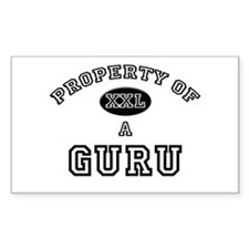 Property of a Guru Rectangle Decal