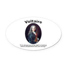 Voltaire Dangerous Oval Car Magnet