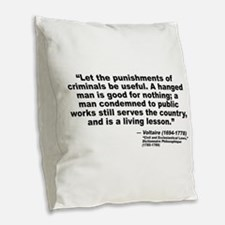 Voltaire Criminals Burlap Throw Pillow