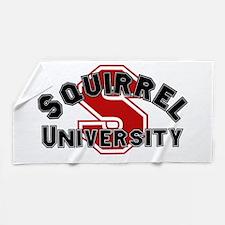 Squirrel University Beach Towel