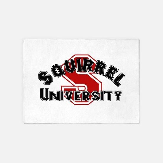 Squirrel University 5'x7'Area Rug