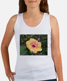 Pink yellow hibiscus flower Tank Top