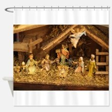 traditional nativity scene Shower Curtain