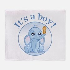 Baby boy (elephant) Throw Blanket