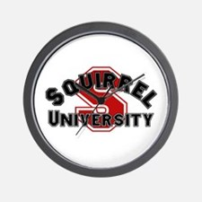 Squirrel University Wall Clock