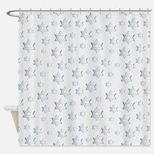 Hebrew Blessings Shower Curtain