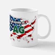 My Job Depends on Ag USA Mug
