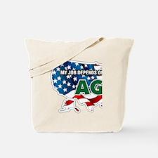 My Job Depends on Ag USA Tote Bag