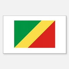 Congolese Flag Rectangle Decal