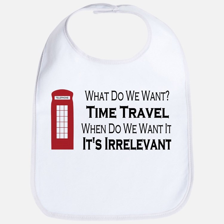 Cute Time travel Bib