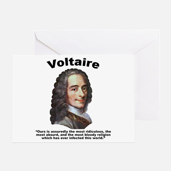 Voltaire Bloody Greeting Card