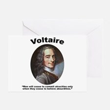 Voltaire Absurd Greeting Card
