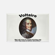 Voltaire Absurd Rectangle Magnet