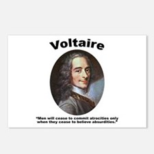 Voltaire Absurd Postcards (Package of 8)