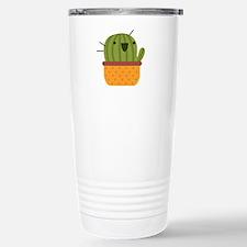 Happy Cactus Stainless Steel Travel Mug