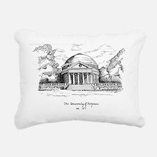 UVA Rotunda Artwork Rectangular Canvas Pillow