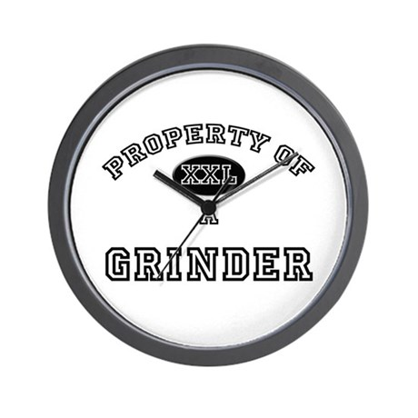 Property of a Grinder Wall Clock by hotjobs