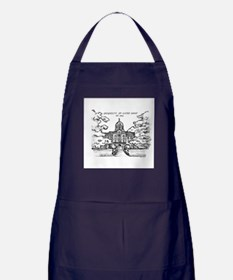 Notre Dame University Golden Dome Ink Apron (dark)