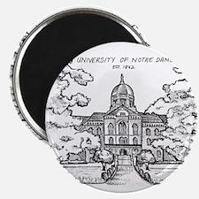 Notre Dame University Golden Dome Ink Sket Magnets