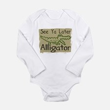 Unique Funny gator Long Sleeve Infant Bodysuit