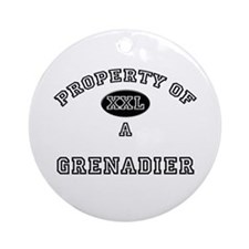 Property of a Grenadier Ornament (Round)