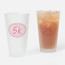5k Pink Chevron Drinking Glass