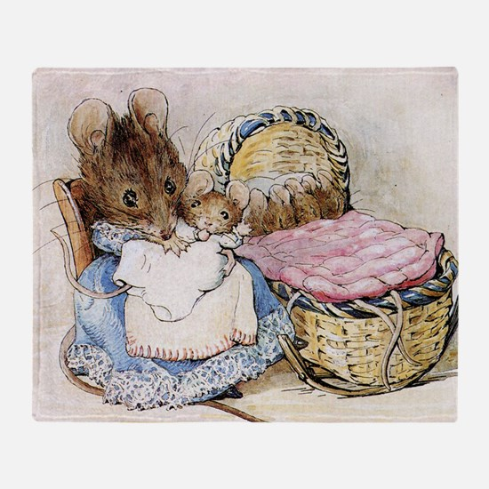Beatrix Potter Lady Mouse Throw Blanket