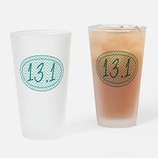 13.1 Blue Chevron Drinking Glass