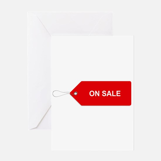 Red Tag Sale - On Sale Greeting Cards