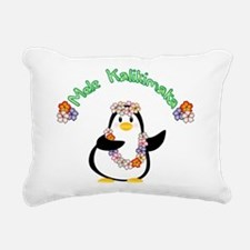 Mele Kalikimaka Penguin Rectangular Canvas Pillow