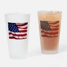 United States Flag in All Her Glory Drinking Glass