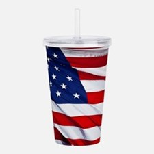 United States Flag in Acrylic Double-wall Tumbler
