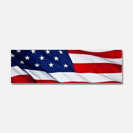 United States Flag in All Her Gl Car Magnet 10 x 3