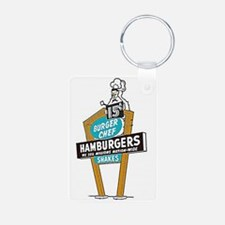 Vintage Burger Chef Sign Keychains