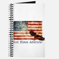 American Flag God Bless America Eagle Journal