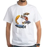 Fish Mens Classic White T-Shirts