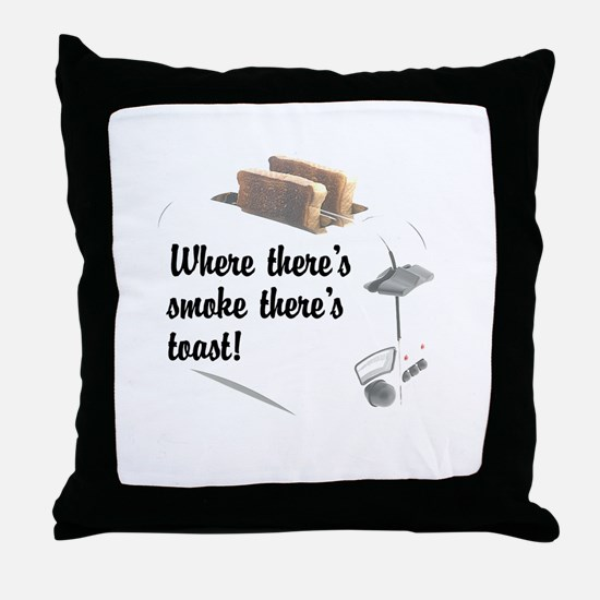 Funny Toast Throw Pillow