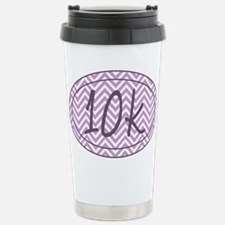 10k Purple Chevron Travel Mug
