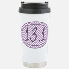 13.1 Purple Chevron Travel Mug