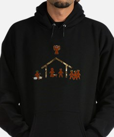 gingerbread nativity Hoodie (dark)