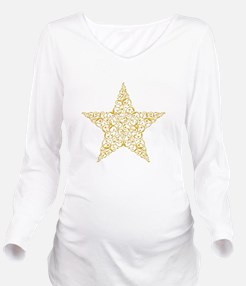 Funny Cowboys star Long Sleeve Maternity T-Shirt