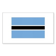 Botswana Flag Rectangle Decal
