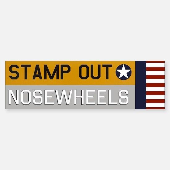 Stamp Out Nosewheels - Pt-17 Bumper Car Car Sticker