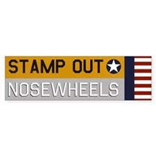 Stamp Out Nosewheels - Pt-17 Bumper Car Sticker