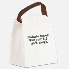 Graduate School BS Canvas Lunch Bag
