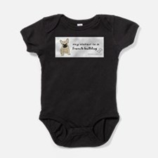Unique Bulldog brother Baby Bodysuit