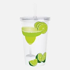 Margarita and limes Acrylic Double-wall Tumbler
