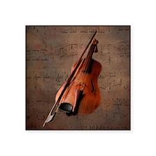 Painted Vintage Violin Sticker